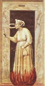 Giotto- Invidia. Cappella degli Scrovegni